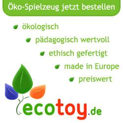 Spielzeug bei EcoToy.de - naturnah und preiswert online einkaufen
