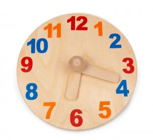 Holzuhr Lernspielzeug aus Birkensperrholz für Vorschulkinder