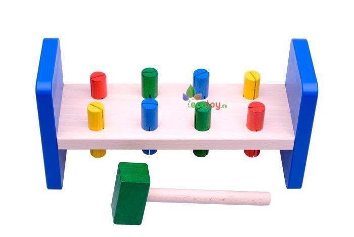 motorikspielzeug klopfbank mit hammer ab 1 jahr. Black Bedroom Furniture Sets. Home Design Ideas