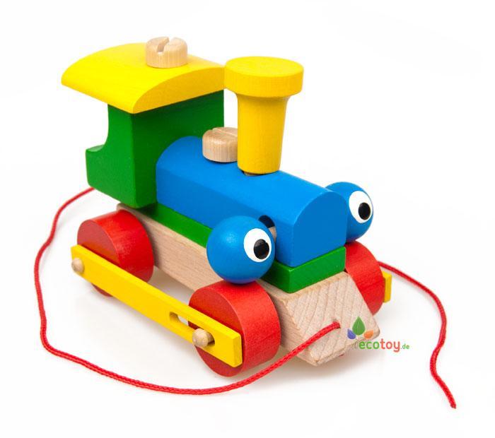 ziehspielzeug zwinkernder steck holzzug steckspielzeug ab 3 jahren. Black Bedroom Furniture Sets. Home Design Ideas