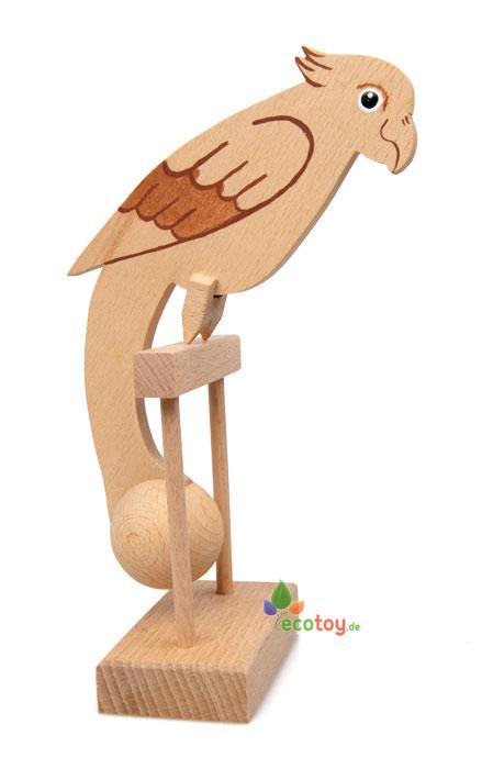 klassisches balance spielzeug papagei aus buchen und. Black Bedroom Furniture Sets. Home Design Ideas
