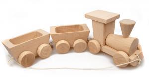 Ziehspielzeug Öko-Zug aus Buchenholz für Kinder ab 3 Jahren