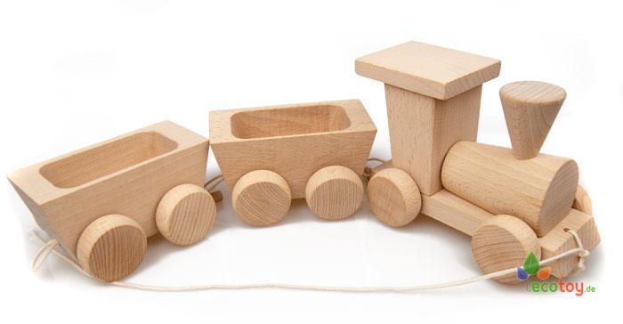 Ziehspielzeug Öko Zug Aus Buchenholz Für Kinder Ab 3 Jahren