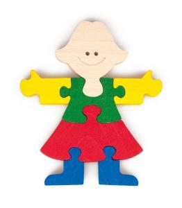Holzpuzzle Mädchen - ökologisches Spielzeug aus Buchenholz