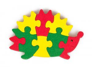 Igel Puzzle - ökologisches Spielzeug aus Buchenholz
