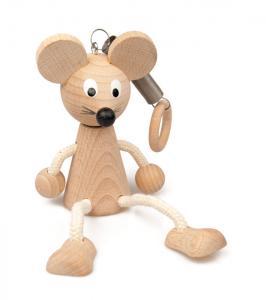 Hängefigur Mäuschen aus Buchenholz
