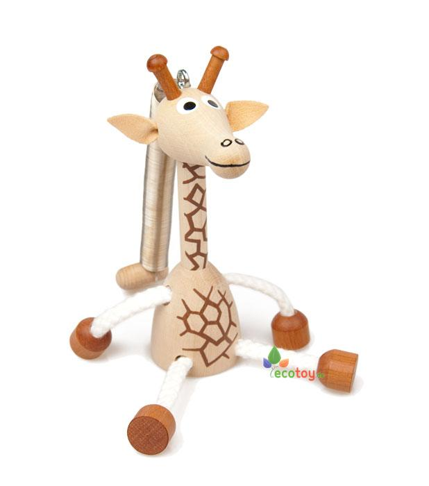 h ngefigur giraffe aus erle und ahornholz f r kleinkinder. Black Bedroom Furniture Sets. Home Design Ideas