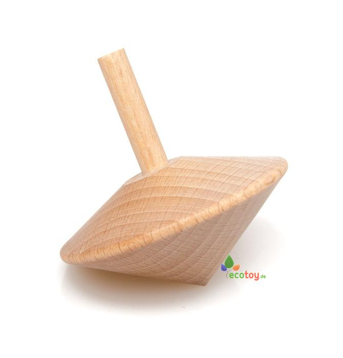 Holzkreisel naturbelassen ökologisches holzspielzeug ab