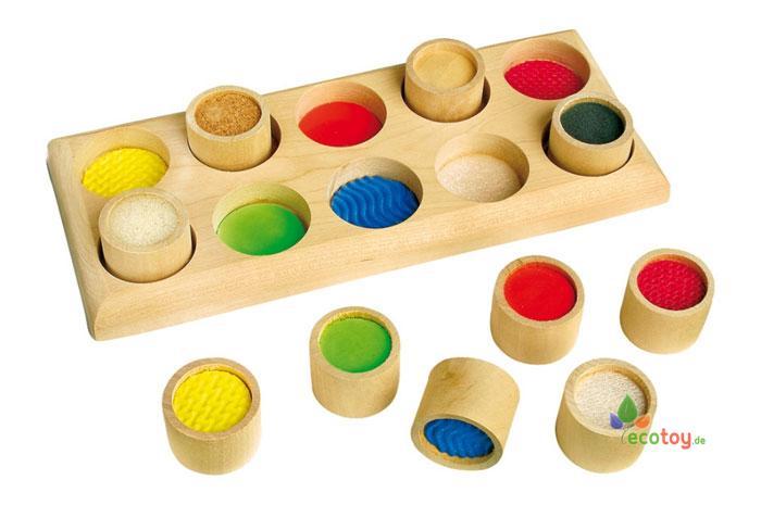Fühlmemo ein montessori fühl spiel mit einsätzen ab