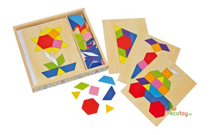 mosaik box montessori spielzeug zur f rderung von kreativit t ab 3 jahre. Black Bedroom Furniture Sets. Home Design Ideas
