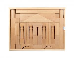 erzgebirgische holzbaukasten domizil 2 mit 41 holzbausteinen ab 1 jahr. Black Bedroom Furniture Sets. Home Design Ideas