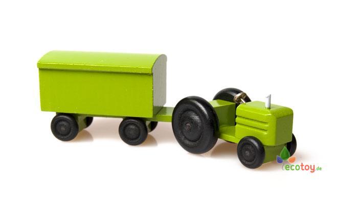 mini-traktor farbig möbeltransport - holzspielzeug für kinder ab 3 ... - Holzspielzeug Fur Kinder