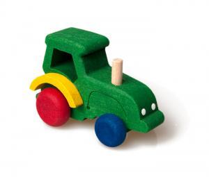 Spielzeug Traktor aus Holz für Kleinkinder ab 3 Jahren