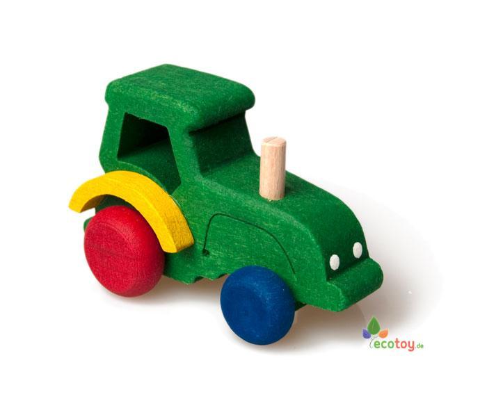 Spielzeug traktor aus holz für kleinkinder ab jahren