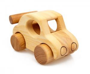 Waldorf Holzauto - ökologisches Holzspielzeug für Klein- und Vorschulkinder