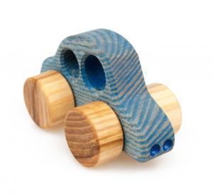 Holzauto Beetle, blau - ökologisches Holzspielzeug nach Waldorf Art für Klein- und Vorschulkinder
