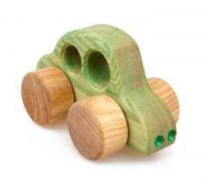Holzauto Beetle, grün - ökologisches Holzspielzeug nach Waldorf Art für Kleinkinder
