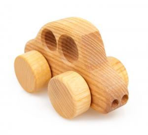 Holzauto Beetle, natur - ökologisches Holzspielzeug nach Waldorf Art für Kleinkinder