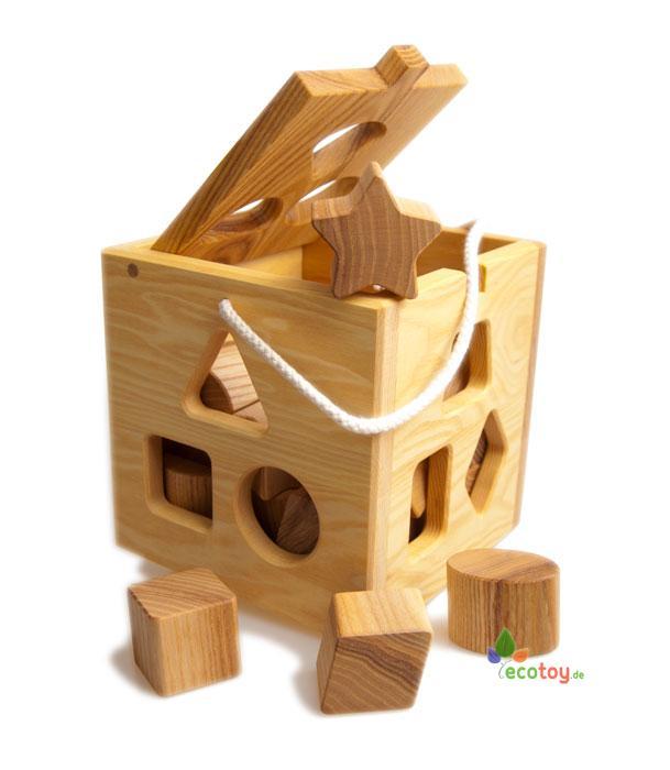 ko steckw rfel montessori holzspielzeug aus massivem eschenholz. Black Bedroom Furniture Sets. Home Design Ideas