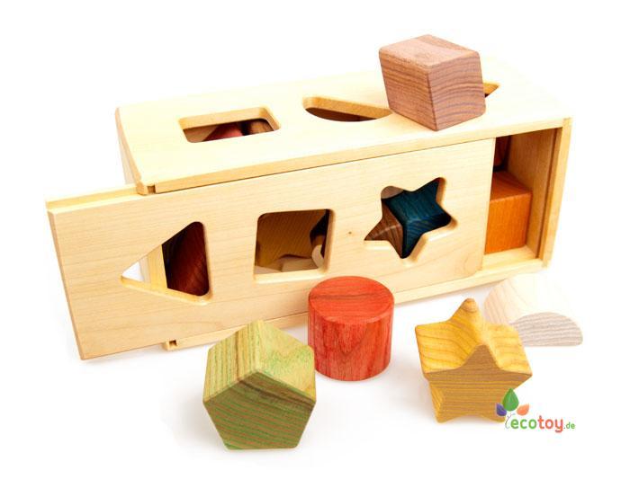 Öko steckkasten montessori holzspielzeug für kleinkinder