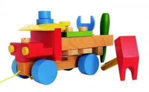 Holzauto Werkzeug LKW Bausatz mit Schrauben und abnehmbaren Teilen