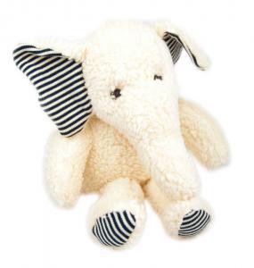 Ökologisches Schmusetier Elefant Rudi aus Baumwoll-Plüsch