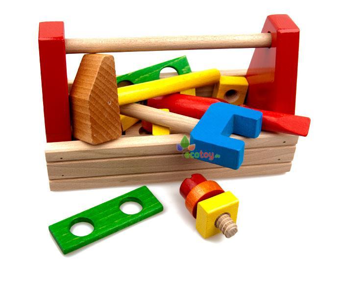 holzspielzeug werkzeugkiste hobby box. Black Bedroom Furniture Sets. Home Design Ideas