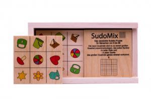 Legespiel SudoMix im Holzkasten